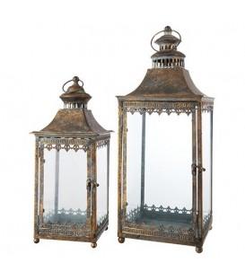 Outdoor lantern duo