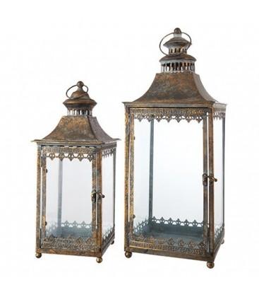 Lanterne metal vieilli (x2)