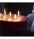 Large cylinder candle 23 cm
