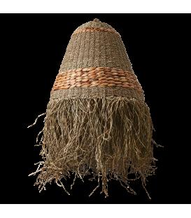 Straw shade with fringe