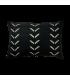 Taie d'oreiller noir à motifs 60x40 cm