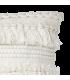 Housse de coussin blanc a franges
