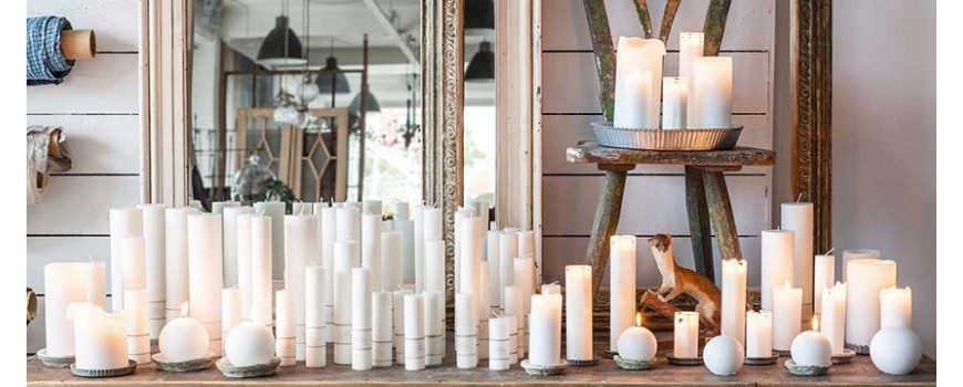 Chandelles, bougies sculptées et petites bougies