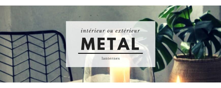 Lanterne en métal